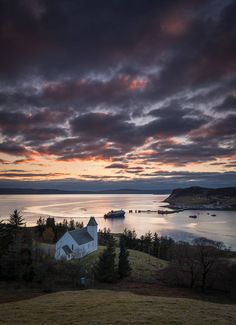Uig Harbour sky colours, Isle of Skye, Scotland