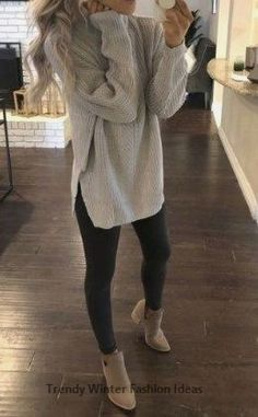 20 more winter work outfits for women casual sweaters ! winter-workoutfits für damen-freizeitpullover winter work outfits for women casual sweaters ! Legging Outfits, Athleisure Outfits, Yoga Pants Outfit, Athleisure Fashion, Casual Winter Outfits, Casual Fall Outfits, Women Casual Outfits, Winter Outfits Women, Outfits Spring