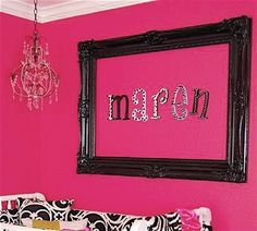 DIY: You could use this idea in any room in your house.  Lots of possibilities for the frame and the wording!