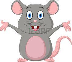 rata caricatura: Historieta linda del ratón