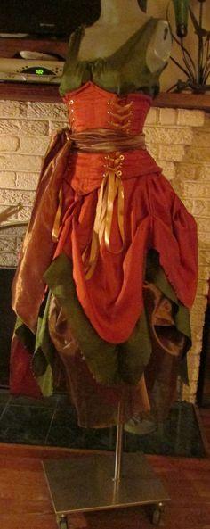 Renaissance FAIRY Gown Dress costume Wench Womens Costume reversible CORSET 225