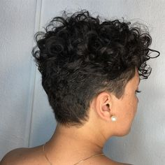 150 amazing short hairstyles ideas for curly hair – page 1 Pixie Cut Curly Hair, Bob Haircut Curly, Curly Pixie Hairstyles, Short Hair Undercut, Short Sassy Hair, Short Curly Haircuts, Super Short Hair, Short Haircut, Curly Hair Styles