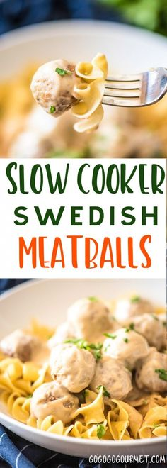These Slow Cooker Swedish Meatballs are the perfect back-to-school dinner that everyone will love. Only six ingredients in this fast and easy meal! via @gogogogourmet