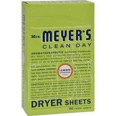 Mrs. Meyer's Dryer Sheets - Lemon Verbena - 80 Sheets