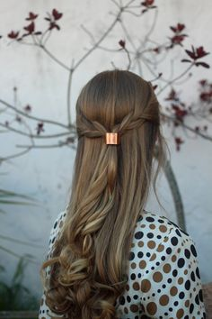 Metal hair cuff - size small copper ponytail holder rustic hair accessories silver pony tail tie boho chic shiny brass hair slide for her by Kapelika on Etsy https://www.etsy.com/listing/173148601/metal-hair-cuff-size-small-copper