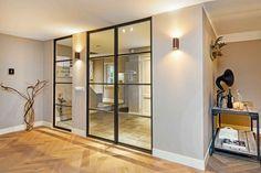 Stalen binnendeur met glas