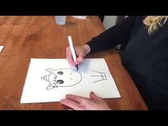 Teken een eenhoorn, draw a unicorn