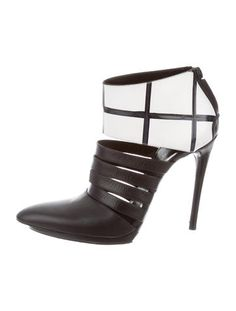 Balenciaga Leather Multistrap Cage Booties