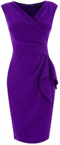 A subtly sexy shift style crepe dress with an elegant v neckline.