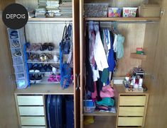 Meu Cantinho: organização do guarda-roupas