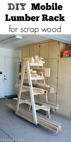 DIY Mobile Lumber Rack