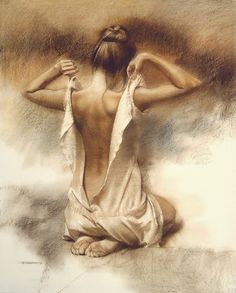 """""""Teddy"""" - William Whitaker, pastel {figurative female human body woman posterior back drawing} Rr Back Drawing, Life Drawing, Pastel Drawing, Painting & Drawing, Drawing Drawing, Woman Painting, Pencil Drawings, Art Drawings, Figure Drawings"""