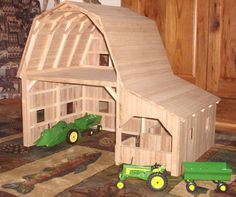 Custom Made Wooden Toy Barn #3 This is my all time favorite toy barn.