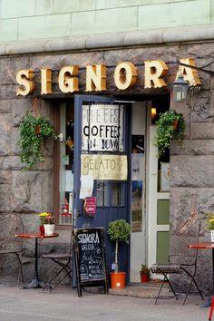 Signora Delizia, Satamakatu 5 - delicacy boutique & cafe on Katajanokka