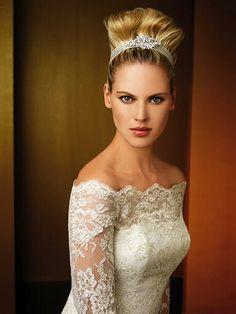 Off The Shoulder Long Sleeve Wedding Dresse