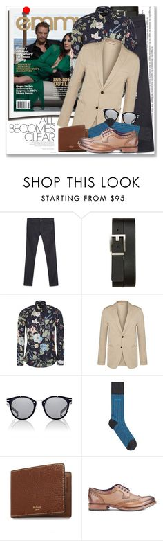 """""""Man of Style: Sam Heughan"""" by coraline-marie ❤ liked on Polyvore featuring Polaroid, Gucci, BOSS Hugo Boss, Dior Homme, Mulberry, Ted Baker, men's fashion and menswear"""