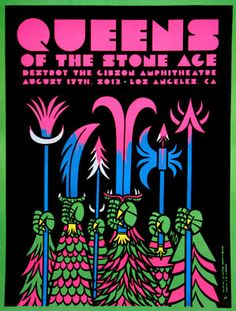 Queens of the Stone Age Los Angeles Gibson Theatre Martin Ontiveros Kii Arens Free Friday Poster Giveaway Tour Posters, Band Posters, Music Posters, Event Posters, Festival Posters, Concert Posters, Gig Poster, Stone Age Art, Illustration Photo