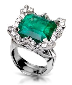 Kat Florence one of a kind Colombian Emerald