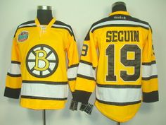 "Seguin #19 NHL Boston Bruins Yellow Hockey Jersey Sz50 by osca. $59.50. Our store offers different kinds of jerseys. they are of high quality and low price. ""Customers highest, reputation first "" is our principle. cheap NHL jerseys will also never let you down.  Body: 100% nylon diamondback mesh  Collar: 100% polyester flat knit rib Officially licensed All suitable sizes and colors The players' numbers and names are sewn on the backs color:yellow sz:L"
