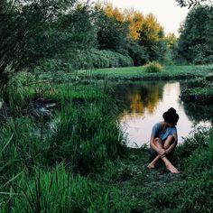 Alone in nature.