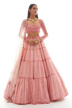 Indian Gowns Dresses, Indian Fashion Dresses, Dress Indian Style, Indian Inspired Fashion, Indian Wear, Indian Fashion Designers, Indian Designer Outfits, Designer Dresses, Designer Bridal Lehenga