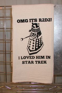 This multi-fandom tea towel. | 27 Awesome Products To Geek Out Your Kitchen