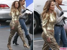 Jennifer Lopez's 'American Idol' Fashions - This is an example of an outfit I hate.  The top is nice but the saggy crotch pants are just silly.