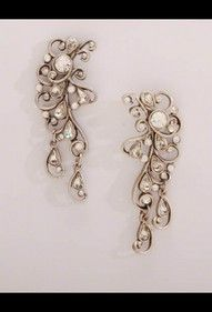 Crystal gypsy lace earings. Wedding perfect!