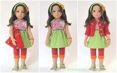 5+teilg.+Set+CLARA+-+grün-rot+-+Frühling+`16+von+©+MABE+la+Creativ+-+KIDS+auf+DaWanda.com