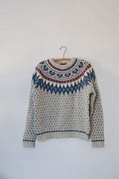 vintage+Norwegian+sweater+/+Woolrich+wool+sweater+/+wool