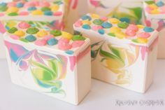 Spring Blossoms Handmade Soap Coconut Milk by XplosiveCosmetiX
