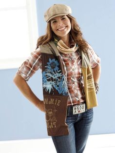 a great way to use old t-shirt -- make a festive scarf