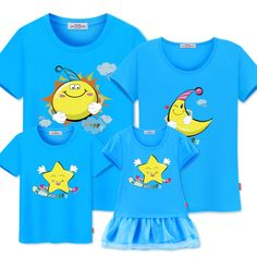 Smarter Shopping, Better Living! Aliexpress.com Couple Outfits, Matching Family Outfits, Matching Clothes, Family Set, Stars And Moon, Sun Moon, Couple Shirts, Shirt Price, Father And Son