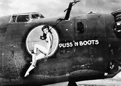 Happy Memorial Day Puss n Boots Nose Art WWII  #pinup #ww2 #noseart