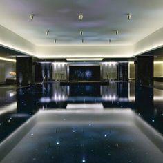 Black pool at The Ritz Carlton Powerscourt, Enniskerry Ireland