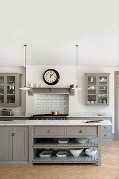 The deVOL Real Shaker Kitchen, Classic Bespoke Kitchen and Air Kitchens all evoke timeless design periods where function inspired beautiful things. Patio Kitchen, New Kitchen, Kitchen Decor, Country Kitchen, Shaker Kitchen, White Kitchen Cabinets, Small American Kitchens, Devol Kitchens, Rustic Kitchen Design