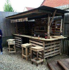 Making The Ultimate Pallet Garden Bar:
