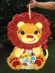 This Lion Pinata is so cute and holds tons of goodies. This listing is for a custom-made traditional hit pinata. The pinata measures 26 x 20 x For Lion King Theme, Lion King Party, Lion King Birthday, Boy First Birthday, 1st Boy Birthday, First Birthday Parties, First Birthdays, Happy Birthday, Jungle Party