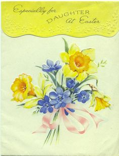 Golden Bell greeting card to my mother from her parents....1950's