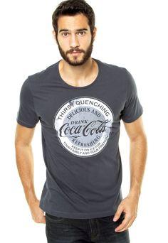 d4f6e52014d4c Camiseta Coca-Cola Jeans Thirst Quenching Azul - Marca Coca-Cola Jeans