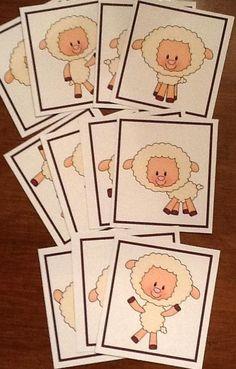 Jesus The Good Shepherd FFG & More for Preschool Seek & Find Cards Game