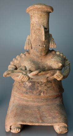 Mother and Child Figure, ceramic, 200 BCE - 500 CE. Jalisco, Mexico