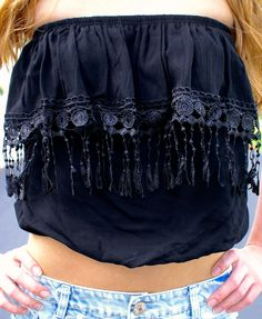 Bad To The Bone Top: Black FREE SHIPPING @ Sweetie Styles  www.sweetiestyles.com   xoxoxo