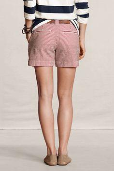 Land's End Women's 5-inch Seersucker Shorts  Love.  #LandsEndLove #XOVoxBox @LandsEnd