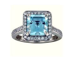 Fancy Diamond Halo Aquamarine Ring from Brilliant Earth. Would like in yellow gold with diamond and my usual band design. Buy Diamond Ring, Diamond Wedding Rings, Halo Diamond, Diamond Engagement Rings, Diamond Jewelry, Aquamarine Wedding, Diamond Girl, Aquamarine Stone, Aquamarine Jewelry