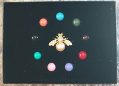 Joan Rivers Interchangeable Bee Pin  10 Colors  by SCLadyDiJewelry
