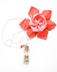 Bottled Origami Lotus Flower