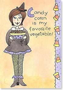My Favorite Vegetable - the Candy Corn Features: • Full-color artwork inside • Colorful envelope included • Printed on recycled paper using soy-based inks • Made in U.S.A. Artist: Ronnie Walter Size: