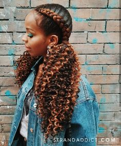 2 cornrow braids with curly ends is my new fave summer style!