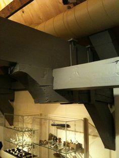 Interieur - balkconstructie. Verplaatsen van de dwarsbalken.